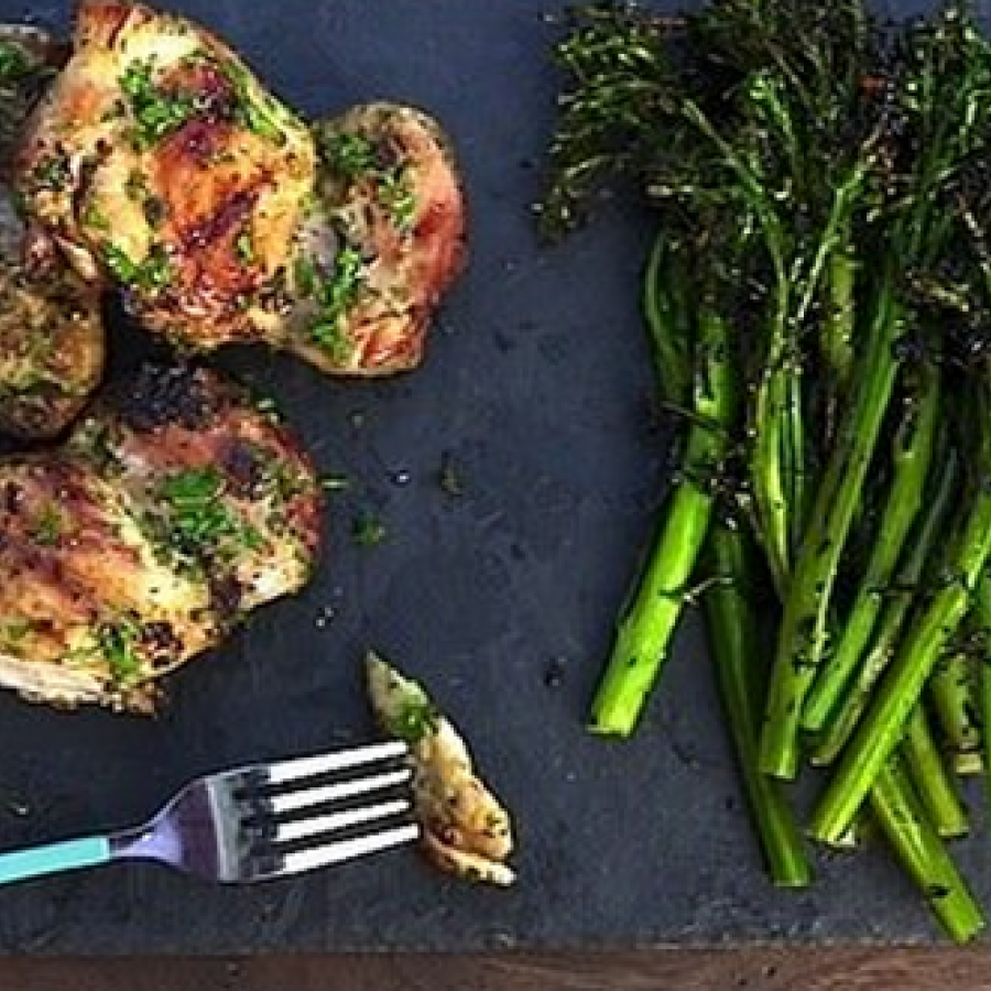 Lemon and Herb Grilled Chicken Thighs